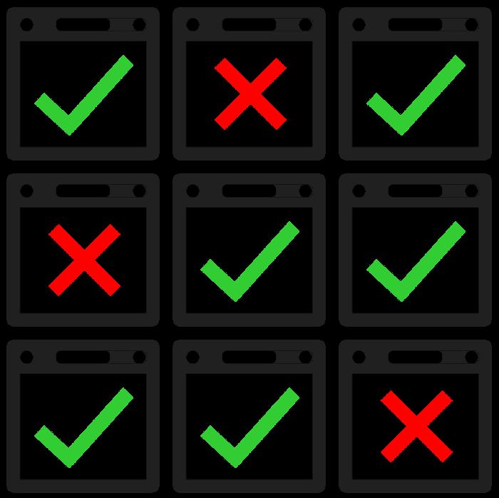 custom icons showing blocked websites via Parental Watch by Gecko Ind.